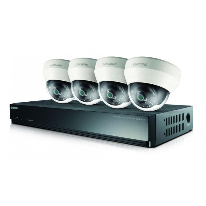 Samsung SRK-3040S 4 Indoor IR Dome Cameras with 4 Channel NVR Kit, 1TB
