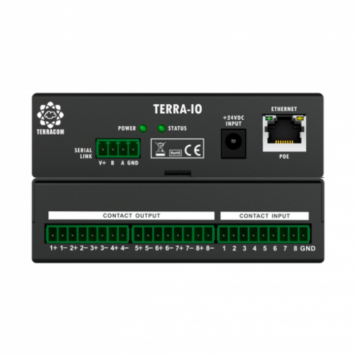 Bogen TERRA-4IO 4 Control Contacts Input and 4 Relay Output Interface