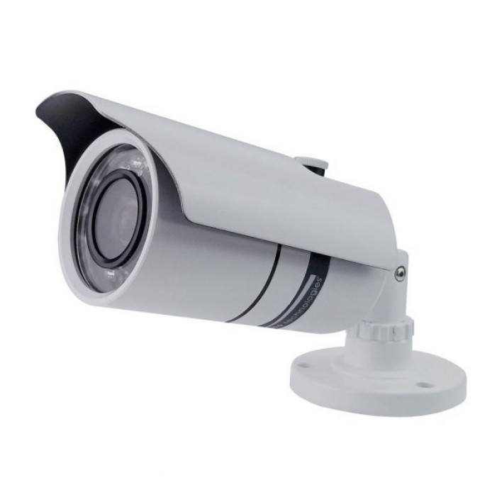 Speco VL-66W Weatherproof Color Camera w/21 IR LED's Includes Power Supply & Mounting Bracket, White