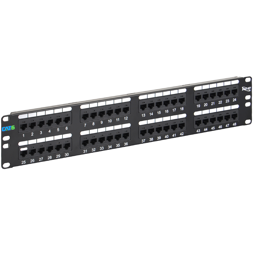 Icc Icmpp04860 48 Port Cat 6 Data Patch Panel 2 Rms 24 Cable Wiring