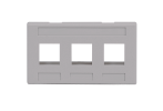ICC IC107FM3GY 3-Port Furniture Faceplate Gray