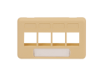 ICC IC107FT4IV 4-Port TIA Furniture Faceplate Ivory