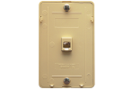 ICC IC630DB6IV 6P6C Telephone Wall Plate Ivory