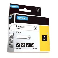"Dymo 18443 RHINO 3/8"" (9mm) White Vinyl Labels"