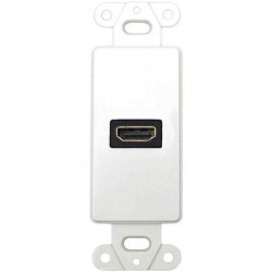 DataComm 20-4501-WH Decor Wall Plate Insert w/90 Degree HDMI Connector
