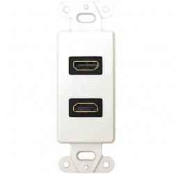 DataComm 20-4502-WH Decor Wall Plate Insert w/90 degree Dual HDMI