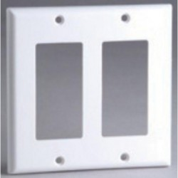 DataComm 20-5122 Decor Wall Plate, 2-Gang, White