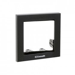Comelit 3311/1A Module-holder frame complete with cornice for 1 module- Anthracite colour