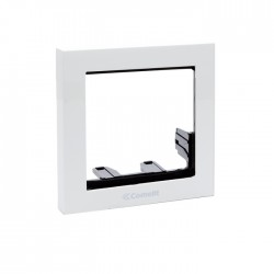 Comelit 3311/1W Module-holder frame complete with cornice for 1 module- White colour