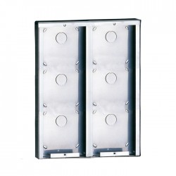 Comelit 3316/6 Stainless steel surface-mounting box for 6 modules
