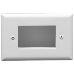 Datacomm 45-0008-WH Easy Mount Low Voltage Cable Plate, White