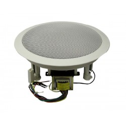"MG Electronics 610CXBT/WG 6.5"" Coaxial Speaker 70/25 Volt Transformer White High Style Grill"