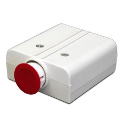 United Security Products HUB2B-ES Hold Up Button - Latching, DPDT, 6 Screw Terminals, w/emergency external activator