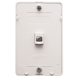 ICC IC630DB6WH 6P6C Telephone Wall Plate White