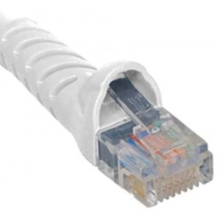 ICC ICPCSJ10WH Molded Boot Patch Cord, White, 10 Ft.