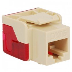 ICC IC1078L6AL EZ CAT 6 Keystone Jack, Almond