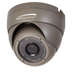 Speco OIPC22T7G OnSIP Outdoor Color IP Turret Dome Camera, 4.3mm