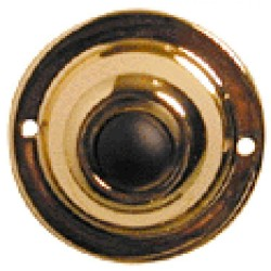 Alpha AL-200 1.75 inch Round Push Button-Br. Fin