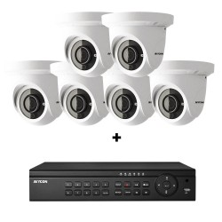 Avycon AVK-HN41E6-4T 8 Channel NVR, 4TB with 6 x 4MP H.265 Outdoor Eyeball Cameras
