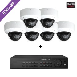 Cantek-Plus CTPK-NH41V6-4T IP Camera System w/(6) Dome Cameras 4TB