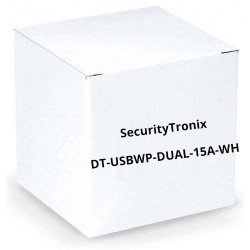 SecurityTronix DT-USBWP-DUAL-15A-WH USB Charging Wall Plate