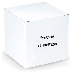 "Ikegami EE-PIPE12W 1"" Diameter Pipe, 12"" Length, White for Plates: EE-PL-BB1W, EE-CMPL3W"
