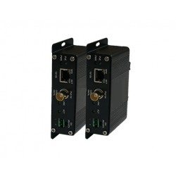 American Fibertek ET1100CPp-R Receiver of 10/100Base-TX (PoE+) Ethernet Over Coaxial with PoC