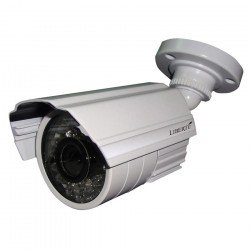 Speco LBB1H Outdoor Day/Night Bullet Camera, 3.6mm, White