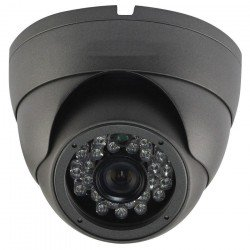 Speco LBD1H Miniture IR Outdoor Dome Camera, 3.6mm, Grey