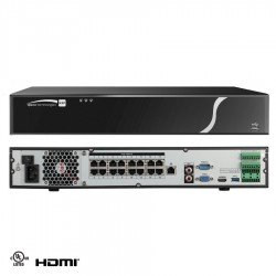 Speco N16NXP16TB 16 Channel Network Video Recorder with POE 16TB