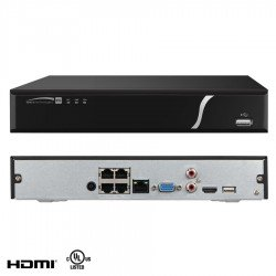 Speco N4NXL2TB 4 Channel Network Video Recorder with POE 2TB