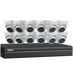 Dahua N5164E124 12 x 4 MP Eyeball Network Cameras with One (1) 16 Channel 4K NVR, No HDD