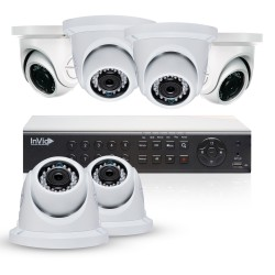 Cantek Plus NW6D2TB All Purpose 6 Camera TVI Dome Camera System