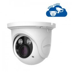 Speco O4DT6M 4 Megapixel Network IR Outdoor Turret Camera, 3.3-12mm Lens, White housing