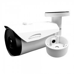 Speco OTML19 Network Bullet Camera with Junction Box, 19mm Lens, White Housing