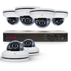 Cantek PT6MPTZ2TB Powerful 4 Channel Pan/Tilt/Zoom 1080P HD Security System
