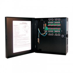 Samsung Security PWR-24AC-8-4UL Small Enclosed 8-Output, 4 Amp 24VAC Power Supply, UL Listed