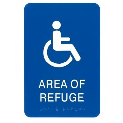 Alpha RSN7044 Area of Refuge Wall Sign - Blue