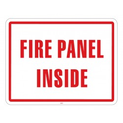 Maxwell SN-FIRE Fire Panel Sign - 11 x 8.5 - Red & White