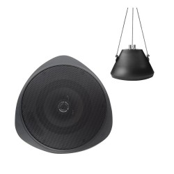 "Speco SP30PTB 5"" Pendant Mount Speaker with Black Housing"