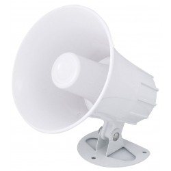 """Speco SPC6P 5"""" 8 Ohm Weatherproof ABS PA Speaker Horn with Metal Base"""