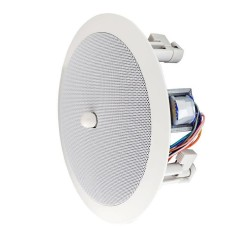 "Speco SPG66TC 6"" Modern Grille In-Ceiling Speaker with Volume Control"