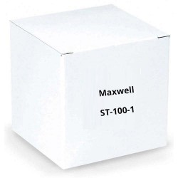 Maxwell ST-100-1 36 Black U-Channel aluminum stake with angle cut bottom and plastic safety cap (Single Piece)