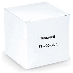 Maxwell ST-200-36-1 Silver U-Channel aluminum stake with angle cut bottom and plastic safety cap (Single Piece)