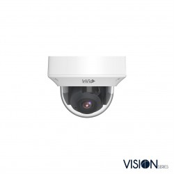 InVid VIS-P4DRXIRA2812 4 Megapixel IP Plug & Play, Outdoor Vandal Dome Camera, 2.8-12mm, White Housing
