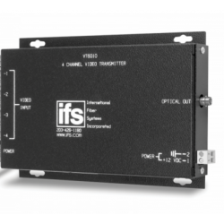 Interlogix VT6010 4 Channel FM Video Transmitter MM - 1 Fiber