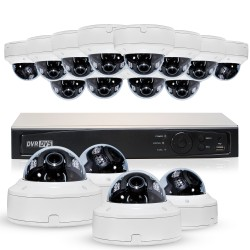 Cantek Plus WW16D4TB Professional HD-TVI Dome System 2.4 MP