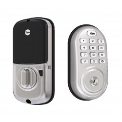 Yale YRD416-NR-619 Push Button Deadbolt with Bluetooth
