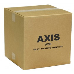 Axis 01398-001 Web Relay - 4 Outputs 0 Input PoE