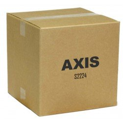 Axis 01583-004 S2224 24 Channels 4K PoE Network Video Recorder, 12TB